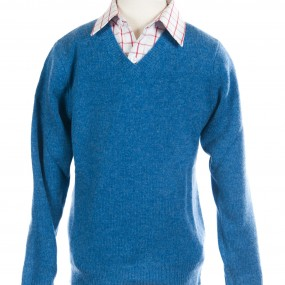 Alan Paine Jean Lambswool V Neck Jumper