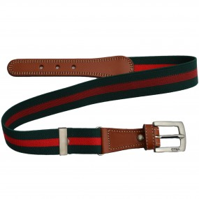 Elasticated Belts Green & Red