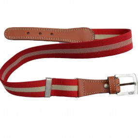 Elasticated Belts Red & Stone