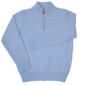 Alan Paine Glacier Lambswool Half Zip Jumper