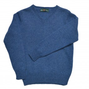 Alan Paine Jeans Lambswool V Neck Jumper