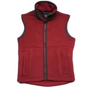 Alan Paine Red Fleece Gilet FROM