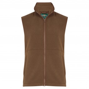 Alan Paine Oatmeal Fleece Gilet FROM