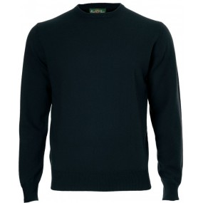 Alan Paine Navy Cashmere Crew Jumper