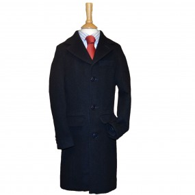 Anjo Wool and Cashmere Boys Classic Navy Coat