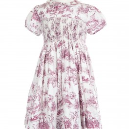 Toile Bordeaux Smock Dress From