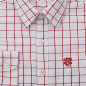 Alan Paine Red and White Checked Shirt