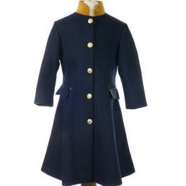 Startsmart Golden Greta Long Navy Coat FROM