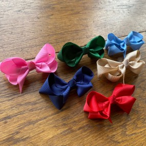 Bowtique Bow Hair Clip Multi Pack of 6 (6.5cm)
