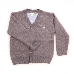 CHUA Grey Boy's Cardigan