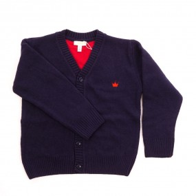 CHUA Navy Boy's Cardigan