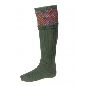 House of Cheviot Spruce Shooting Sock