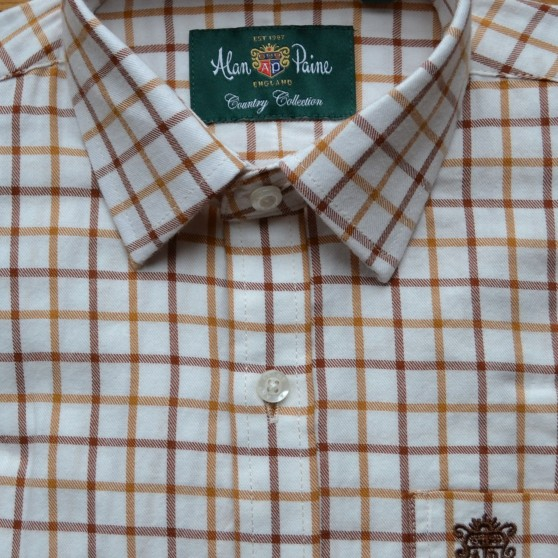Alan Paine Tan Check Shirt 18