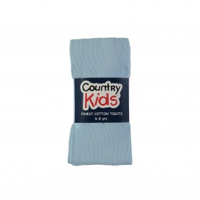 Country Kids Luxury Cotton Tights Pale Blue