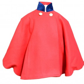 Entrelacitos Red Cape with Navy Trim 2018 FROM