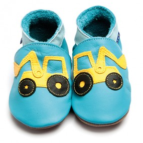 Inch Blue Turquoise Shoe with Digger Motif
