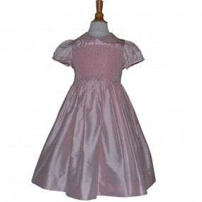 Kidiwi Pink Silk Smock Dress