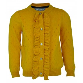Little Lord & Lady Mustard Frill Cardigan