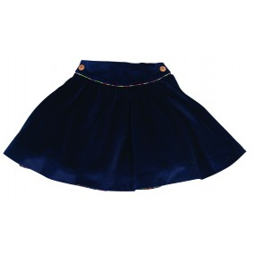 Little lord & Lady Navy Fine Cord Skirt
