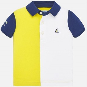 Mayoral Yellow Baby Polo Shirt 1148
