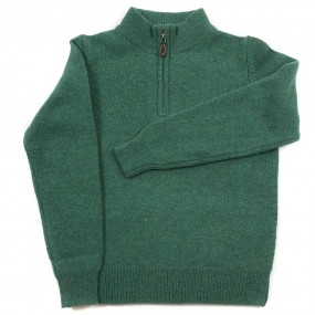 Alan Paine Courgette Lambswool Half Zip Jumper