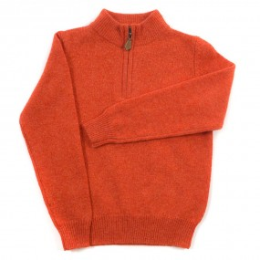 Alan Paine Inferno Lambswool Half Zip Jumper