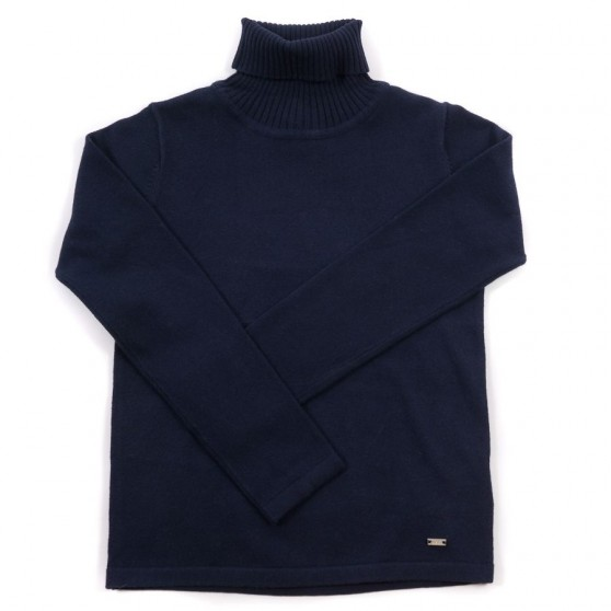 Mayoral Navy Knitted Polo Neck 313