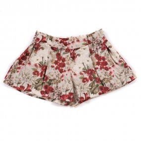 Mayoral Deep Red Floral Shorts 4200