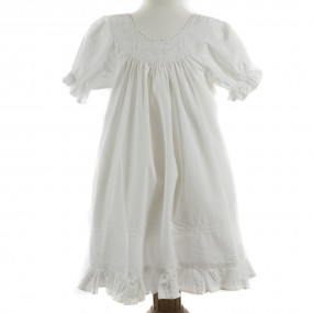 Powell Craft Clementine White Cotton Nightdress