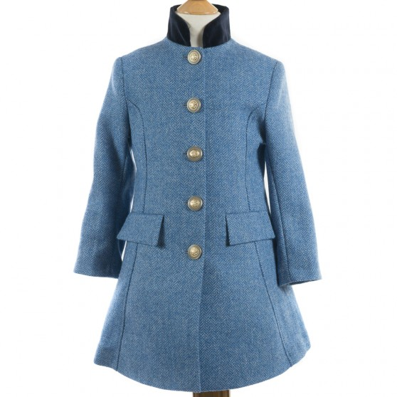 Startsmart Kersoe Herringbone Coat in Blue FROM