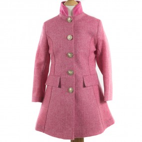 Startsmart Kersoe Herringbone Coat in Pink FROM