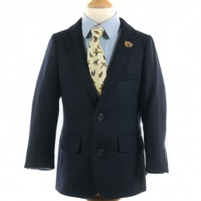 Alan Paine Navy Richmond Blazer for Boy's FROM
