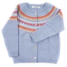 Startsmart Sky Blue Fairisle Cardigan