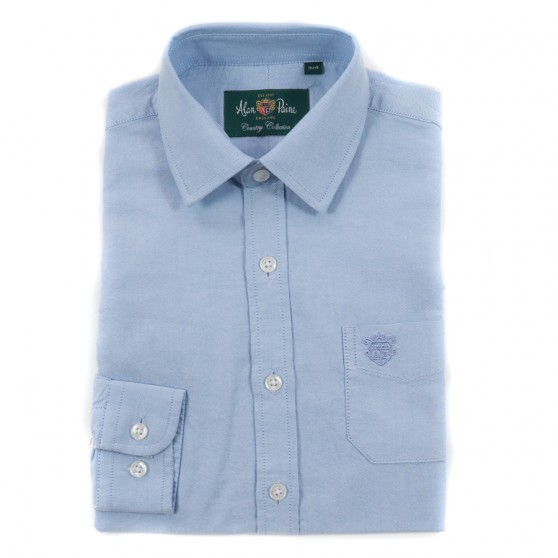 Alan Paine Light Blue Oxford Shirt