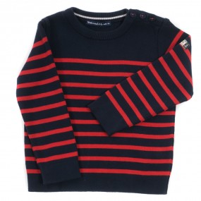Weekend a La Mer Navy & Red Striped Jumper