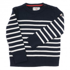 Weekend a La Mer Navy & Ecru Striped Jumper