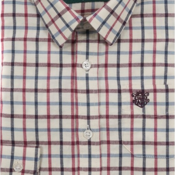 Alan Paine Red Multi Check Shirt