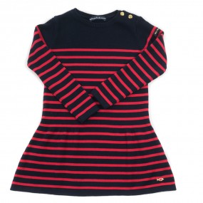 Weekend a La Mer Navy & Red Striped Knit Dress