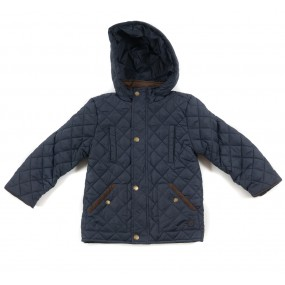 Mayoral Navy Quilted Coat for Boys 4445/91