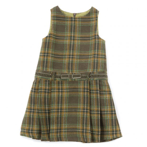 Startsmart Green Check Pinafore