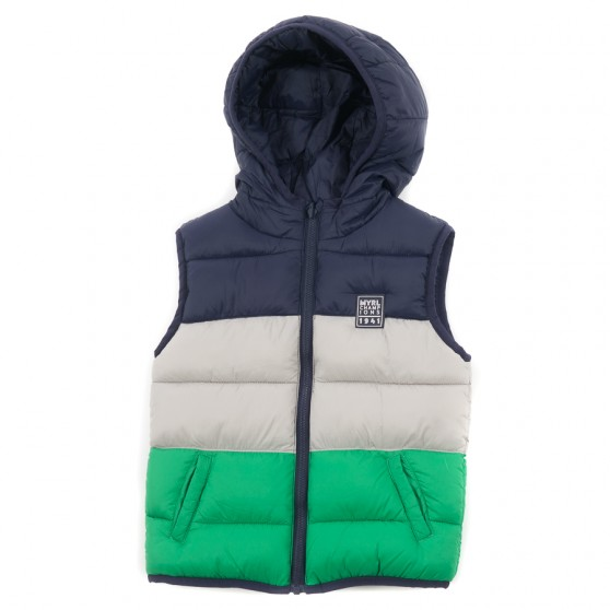 Mayoral Green Striped Reversible Gilet 2328/45
