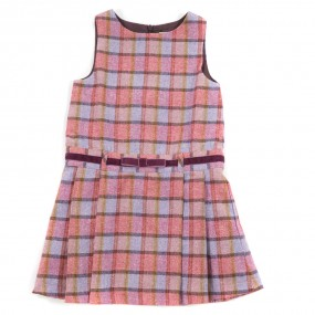 Startsmart Pink Check Pinafore