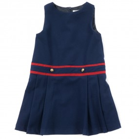 Startsmart Navy Pinafore with Red Trim
