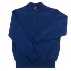 Alan Paine French Navy Half Zip Merino