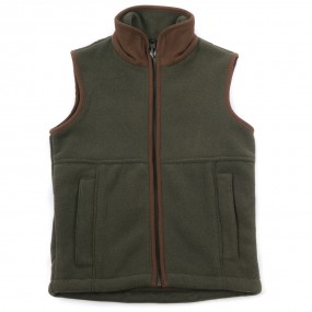 Alan Paine Green Fleece Gilet FROM