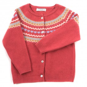 Startsmart Fairisle Rose Cardigan