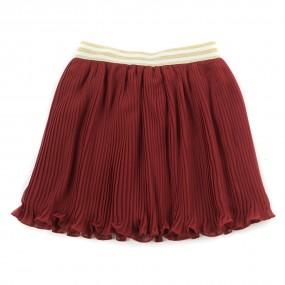 Startsmart Wine Pleated Skirt
