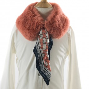 Mayoral Faux Fur Collar with Scarf Rose 5942