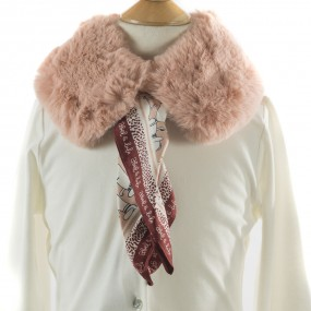Mayoral Faux Fur Collar with Scarf Blush 5942