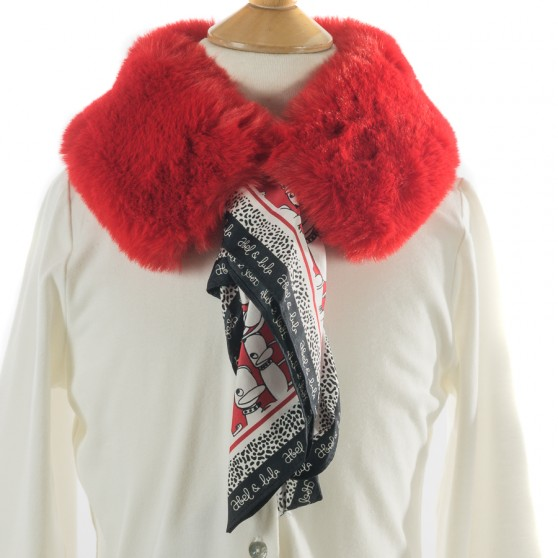 Mayoral Faux Fur Collar with Scarf Red 5942